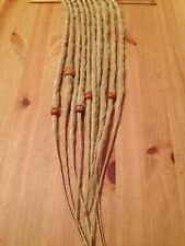 HANDMADE SYNTHETIC DREADLOCKS BLONDE ACCENT SET 10 DREADS WITH BEADS