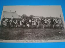 Old postcard Athletics the two mile flat race c1900s