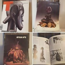 Tribal African Art 3-Quarterly Book Bundle YEAR 1980 1987 Mask Sculpture Statue