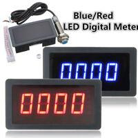 4 LED Digitale Tachimetro RPM Velocità Metro + Hall Prossimità Interruttore