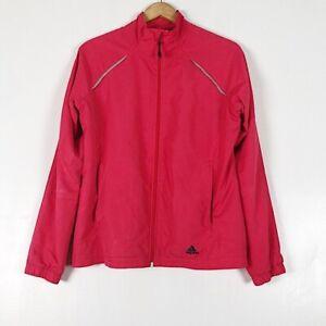Adidas Hot Pink Windbreaker Jacket Sz L