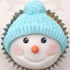 Karen Davies Snowman Head Bobble  Christmas Cake CupCake Mould NEXT DAY DESPATCH