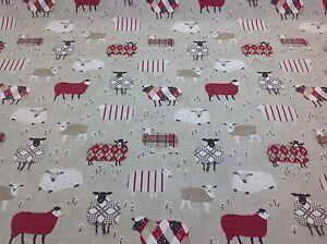 iliv SMD Baa Baa Sheep PEONY Cotton Fabric.Curtains/Upholstery/Craft/Cushions