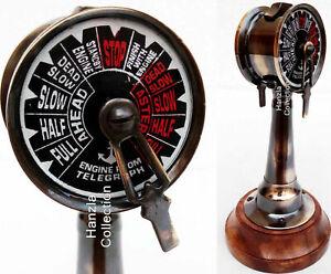 "Maritime Nautical Brass Ship Antique Telegraph 6"" Antique Ship's Engine Order"