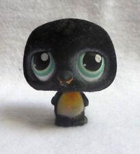 LITTLEST PETSHOP LPS #333 HASBRO PENGUIN PINGOUIN NOIR FUZZY YEUX VERT AIMANT