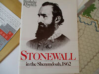 Civil War Stonewall Jackson Strategy & Tactics Game Shenandoah Wargame 1978