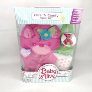 NEW Baby Alive Cute 'N Comfy Hoodie Set Hoodie Shoulder Bag Diaper