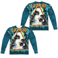 Def Leppard HYSTERIA 2-Sided Sublimated All Over Print Long Sleeve Poly T-Shirt
