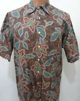 Reyn Spooner Mens M Multi-Color Aloha Hawaiian Floral Shirt Regency Cotton Lawn