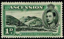 More details for ascension sg39, 1d black & green, m mint. cat £45. p13½.