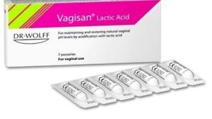 VAGISAN Lactic Acid BV Vaginal Pessaries /  Restores Vaginal Flora & PH * 7
