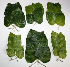 80 x Blattgrün versch. Größen Textil Seidenblumen Tischdeko Floristik Basteln A1