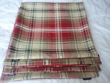 "4 RED TARTAN CUSHION COVERS. By McALISTERS  APPROX 50cm x 50cm. 19.5""sq"