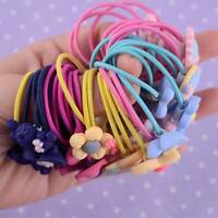 10Pcs/set Women Girls Hair Band Ties Rope Ring Elastic Hairband Ponytail Holder