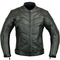Batman Motorbike Leather Jacket Motorcycle Protection CE Armour