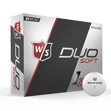 Wilson Staff WGWP40000 12 Pk Duo Distance Low Compression Soft Golf Balls, White
