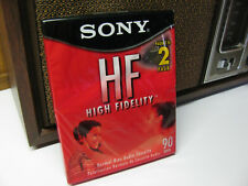 Blank SONY CASSETTE TAPES 2 Pack High Fidelity Normal Bias Audio 90 Min C-90HFL