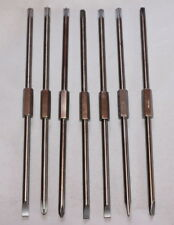 lot of 7 Surgical DENTAL SCREW DRIVER 2 Sided Bits 6MM Philips Flat Cross Head