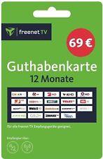 freenet TV Verlängerung Auflade-PIN-Code 12 Monate DVB-T2/ Sat. HD Guthabenkarte