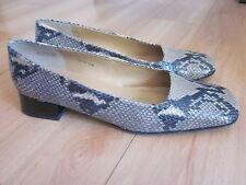 "Ralph Lauren Womens Snakeskin Leather 1"" Heel / Flat Shoes Slip On Size 9.5 $189"