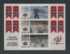 "CANADA SOUVENIR SHEET SS2340 MONTREAL CANADIANS 100th ANNIVERSARY ""MOTIONSTAMP"""