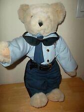 The Vermont Teddy Bear Co. Plush Stuffed Police Officer Bear Sunglasses Badge