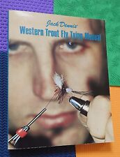 Fly Tying Book Western trout flyfishing Jack Dennis manual fish fishing vtg book