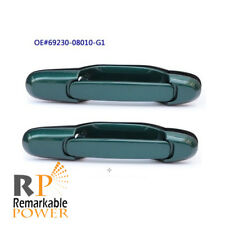 E1D83 For 98-03 Toyota Sienna 2Qty Outside Handle Green Pearl 6P2 Rear Passenger