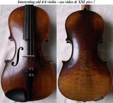 FINE OLD VIOLIN 1930  - see VIDEO - ANTIQUE VIOLINO バイオリン master скрипка 小提琴 018