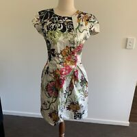 Ladies CUE Size 8 Floral Print Party Cocktail Dress Pockets