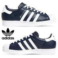 Adidas Originals Superstar Sneakers Men's Casual Shoes Running White Navy Silver