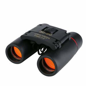 HD 30x60 Portable Mini Binoculars Zoom Compact Telescope Red film Night Vision