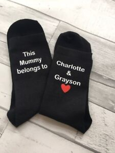 This Mummy Mum Auntie Nanny Gran Grandma Belongs To Personalised Ladies Socks