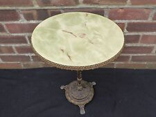 Beautiful Vintage Round Marble Onyx Effect Coffee Side Table Plant Stand