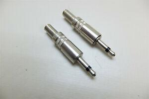 2x 2-polig 3,5 mm mono Klinkenstecker zum Löten Hobby-Aux-Stecker aus Metal