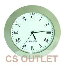 Clock Insert 65mm Bezel fit 60mm Hole Chrome Silver Roman Numerals Quartz Watch