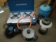 camping equipment, gas stove etc.