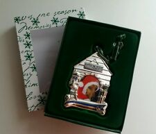 THINGS REMEMBERED PERSONALIZED DOG HOUSE PHOTO CHRISTMAS ORNAMENT NEW