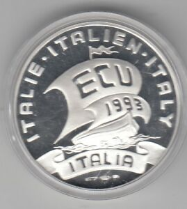 Italien ECU Segelschiff 1993 Silber PP