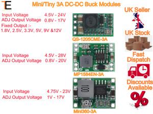 DC Buck Step down Adjustable Voltage Regulator Module 5v~24v to 1.8v 3.3v 12v 3A