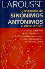 Diccionario de sinónimos, antónimos, e ideas afi