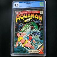 Aquaman #33 (DC 1967) 💥 CGC 8.0 💥 1st App of Aqua-Girl! Nick Cardy Comic
