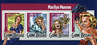 Guinea-Bissau Marilyn Monroe Stamps 2015 MNH Famous People Celebrities 4v M/S
