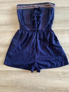NEXT Beachwear Playsuit Shorts Cover Up BNWT Size 12 RRP £30 Holiday Beach Pool
