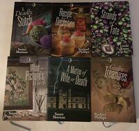 Lot (6) Creative Woman Mysteries Annie's Hardback Books; Stitch, Deception, Fate