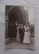 c1955-60 B/W Wedding Photograph. Peter & Ann Robinson, & Bridesmaids. Purley?