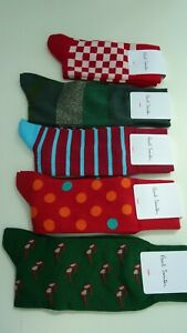 5 New Paul Smith Socks RRP £85 Engineered Made In Italy Garments Oi Polloi 7-12
