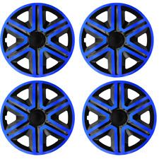 14 Inch Wheel Trim Set Gloss Black Set of 4 Univers Hub Caps Covers [AKTNBLUE]