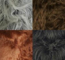 1m Long Pile Coloured Faux Fur Synthetic Mongolian Style Fabric