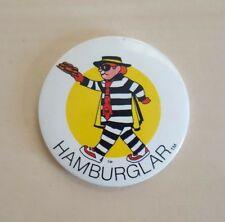 McDonald's Hamburglar Vintage Retro 1990's Pin Button Badge